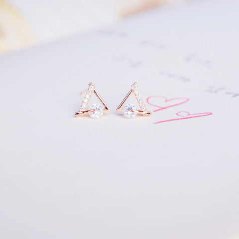 Rose Gold Tippie Earrings