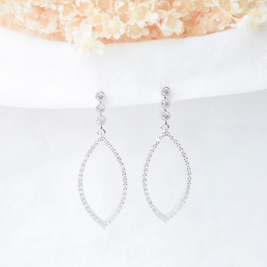 Made in Korea Earrings Korean Anting Cubic Zirconia Bride Bridal Dinner Titanium Accessory Fashion Fancy Stylish Costume Jewellery Online Malaysia Shopping Trendy Accessories Daily Wear Jewelry Dainty Minimalist Delicate Clip On Earrings No Piercing Special Perfect Gift From Heart For Your Loved One