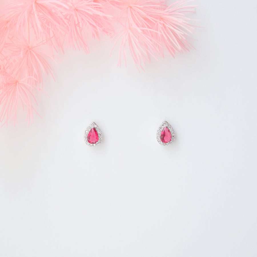 Ruby Tear Drop 2.0 Earrings