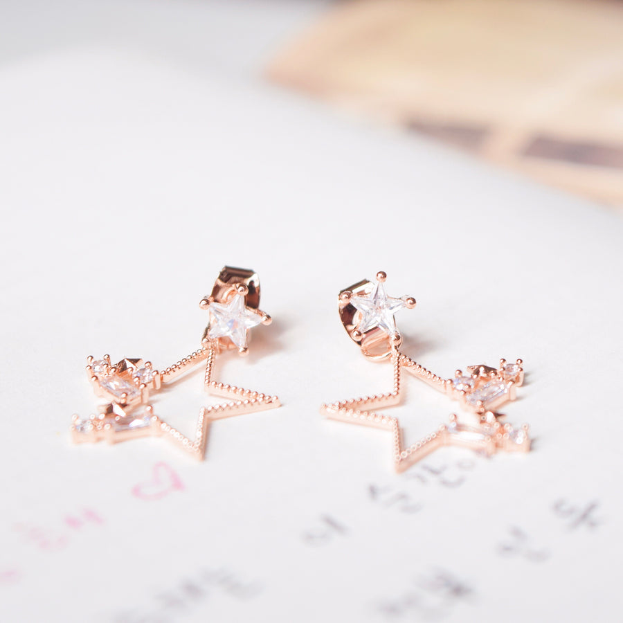 Rose Gold Dainty Korea Made Earrings Local Brand in Malaysia