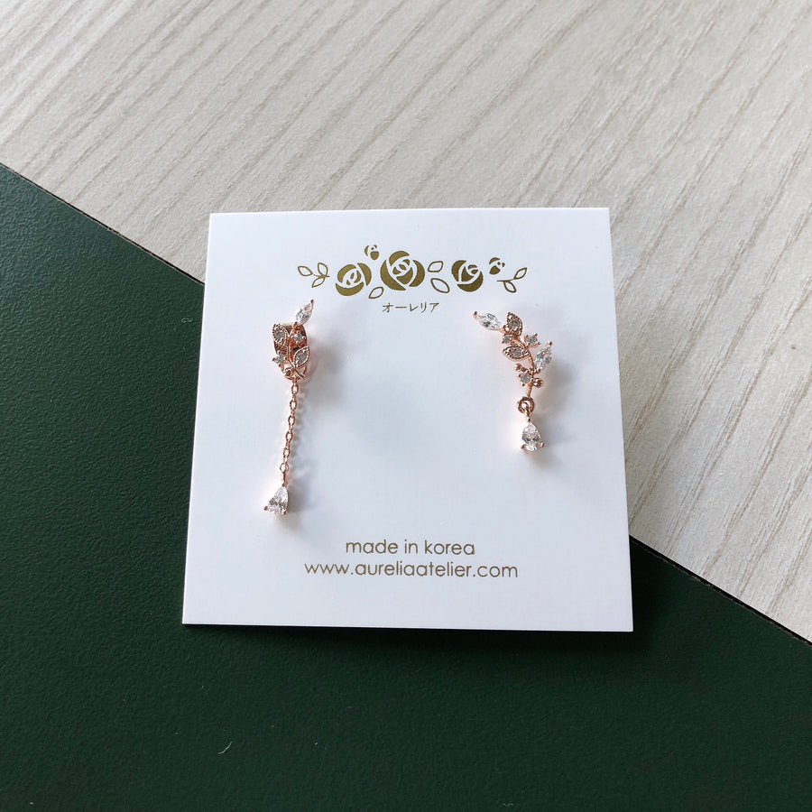 Rose Gold Wish You Were Here Earrings