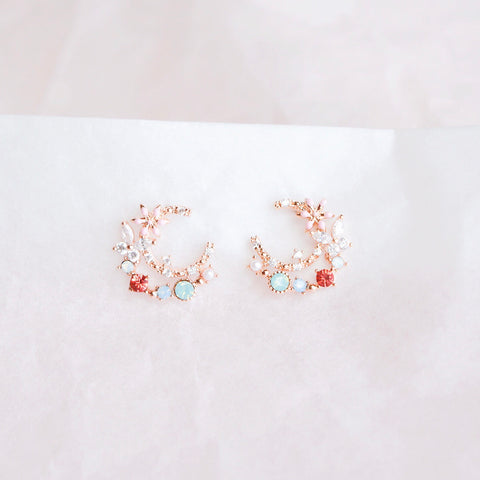 Rose Gold Mallow Earrings