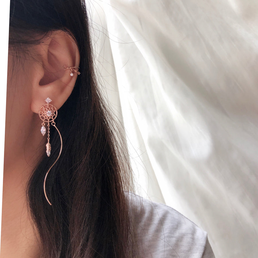 Rose Gold Catch Your Dream Earrings