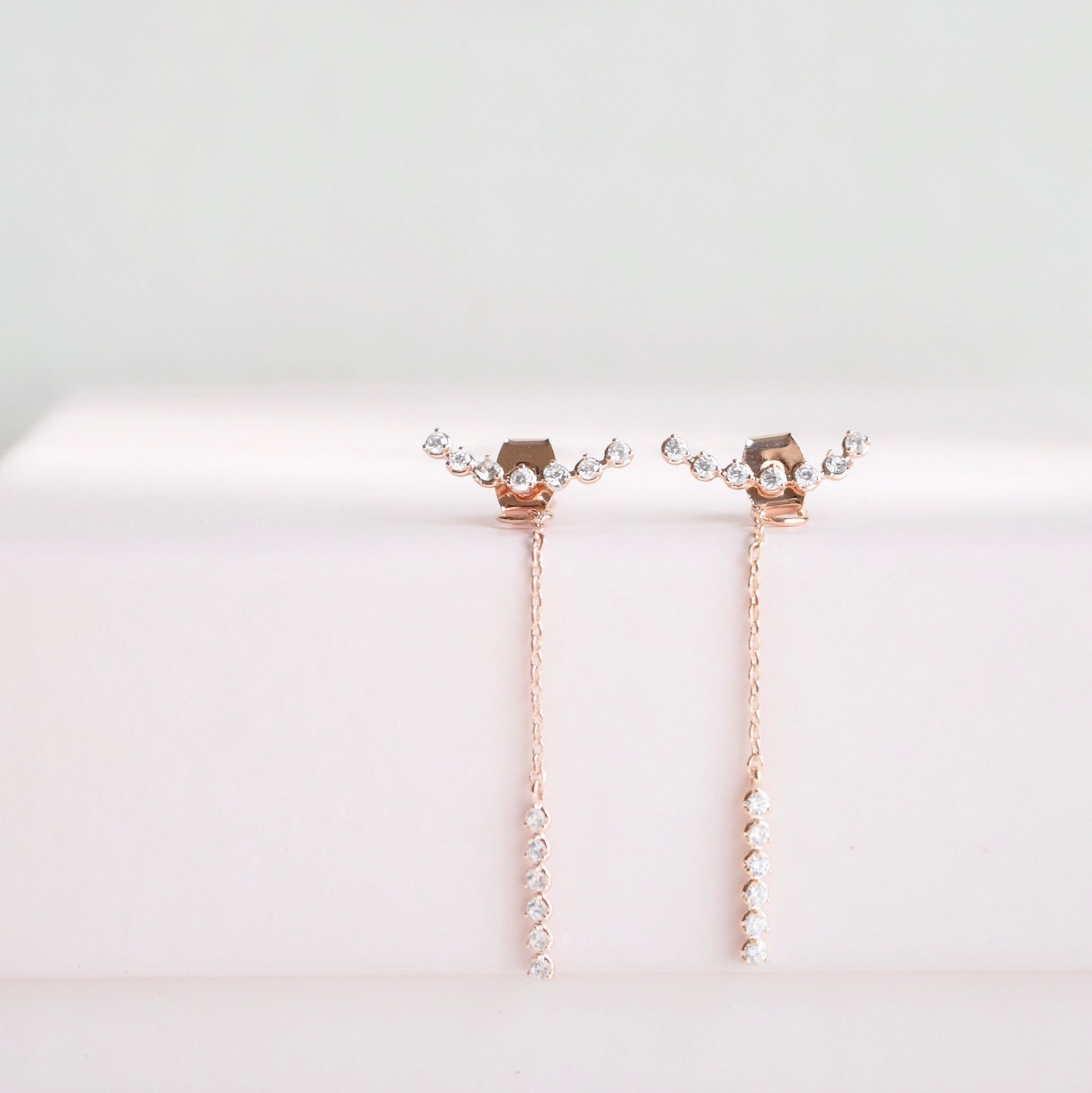 Rose Gold Without You Earrings