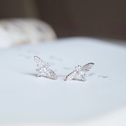 Silver Firefly Earrings