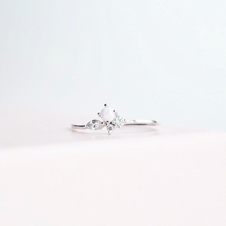 Silver Ring Korea Made Earrings Cubic Zirconia Stone 925 Silver Daily Wear Cincin Adjustable Perfect Gifts From Heart
