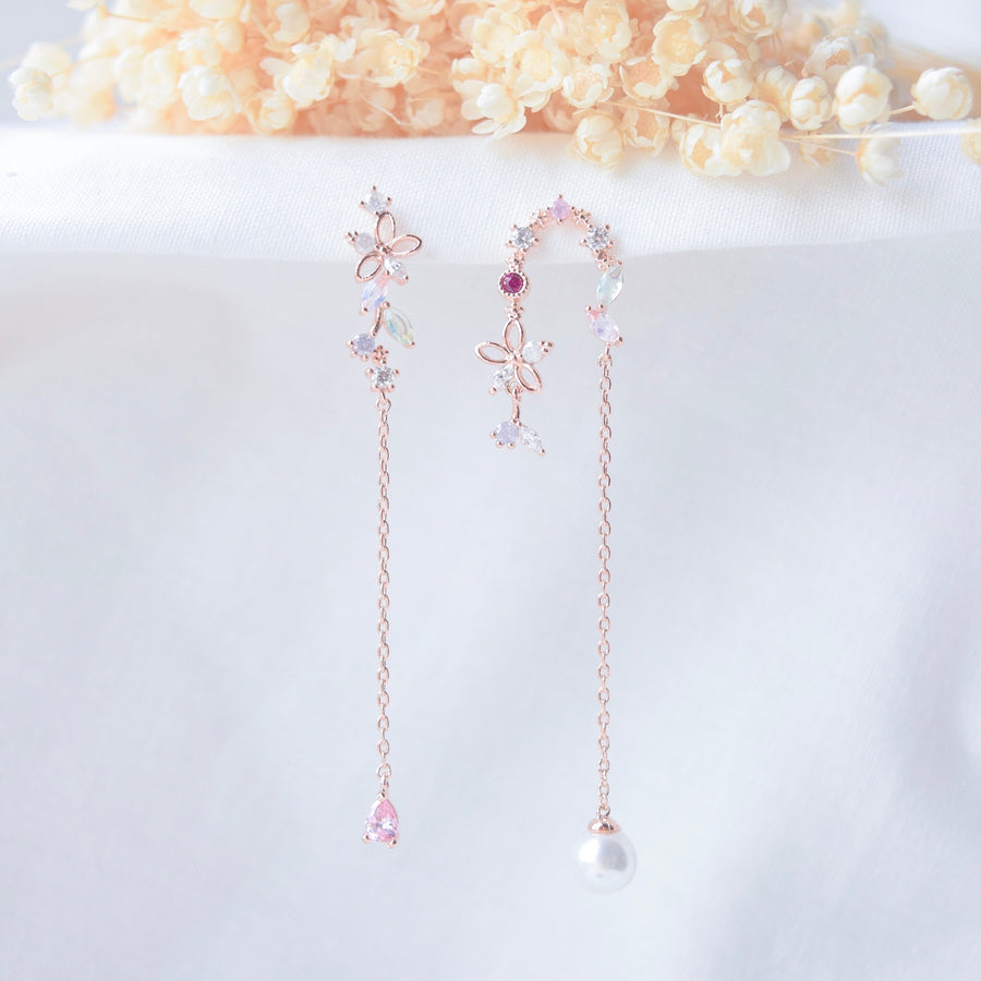 Rose Gold Baby Breath 2.0 Earrings