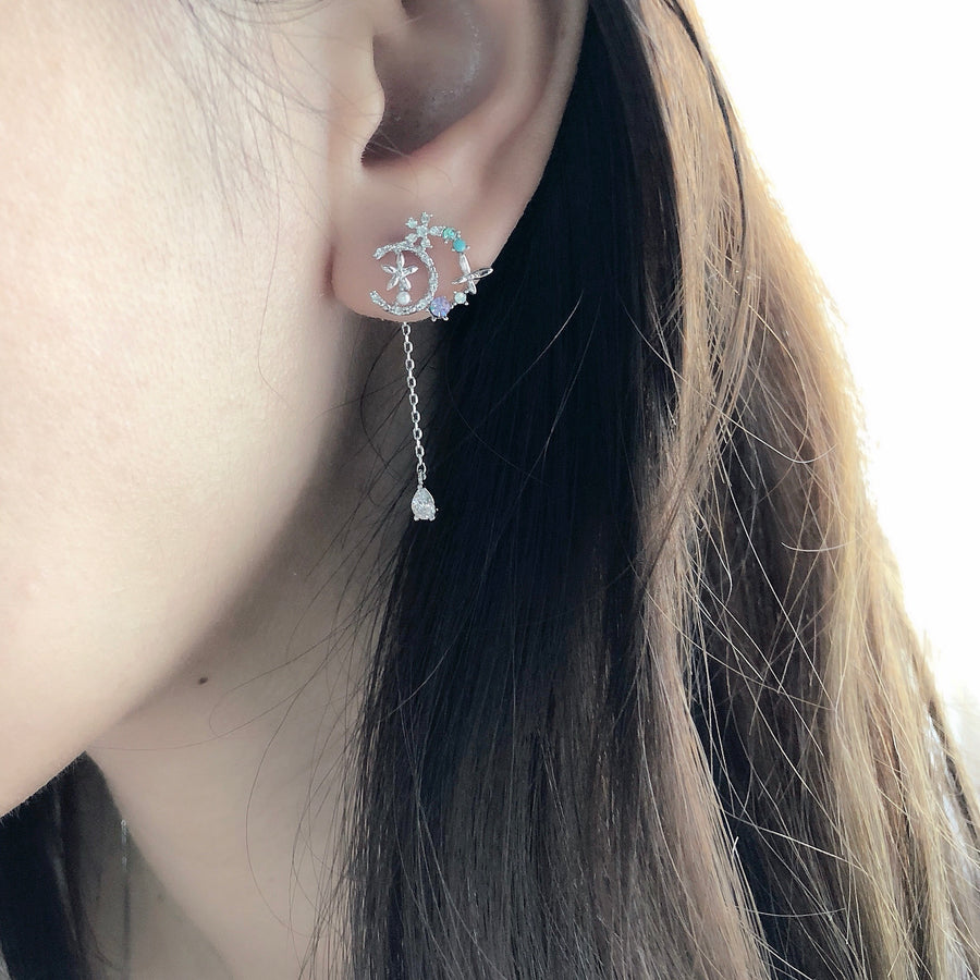 Rose Gold Korea Made Earrings Dainty Delicate Local Brand in Malaysia 925 Sterling Silver Anting Cubic Zirconia Jewellery Jewelry Dainty Minimalist Korean Bridal Earrings Anting
