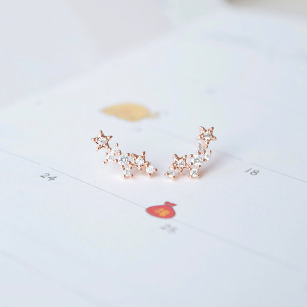 Rose Gold Sirius Earrings