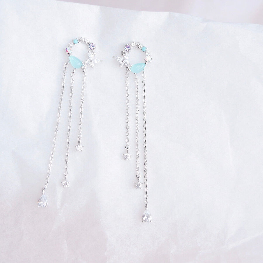 Silver Cosmos Earrings