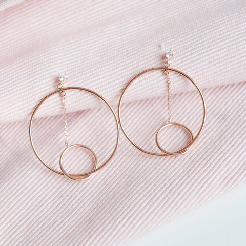 Rose Gold Cupid Drop Earrings