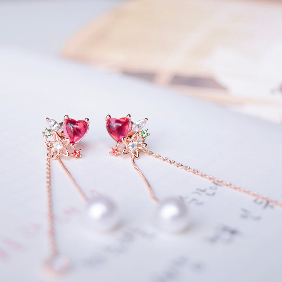 Ruby Hydrangea 2.0 Earrings