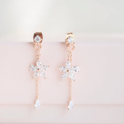 Rose Gold Forget Me Not Earrings