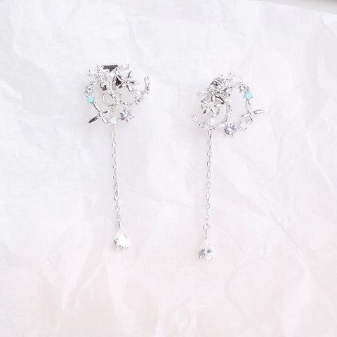 Silver Wisteria Earrings