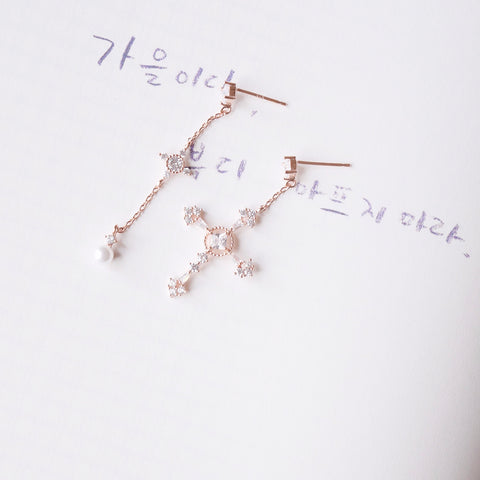 Rose Gold Holy Light Earrings