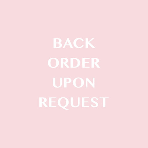 Backorder Upon Request