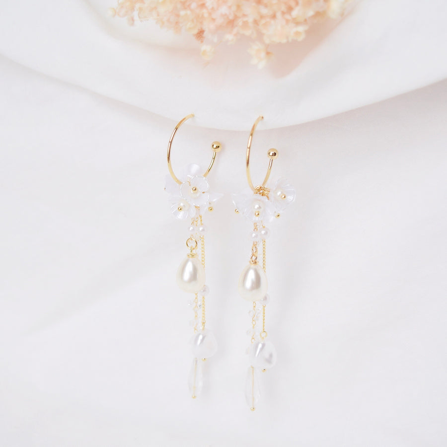 Rose Gold Silver Korea Made Earrings Korean Jewellery Jewelry Local Brand in Malaysia Cubic Zirconia Dainty Delicate Minimalist Jewellery Jewelry Bridal Bride Clip On Earrings 925 Sterling Silver Dinner Accessory Statement
