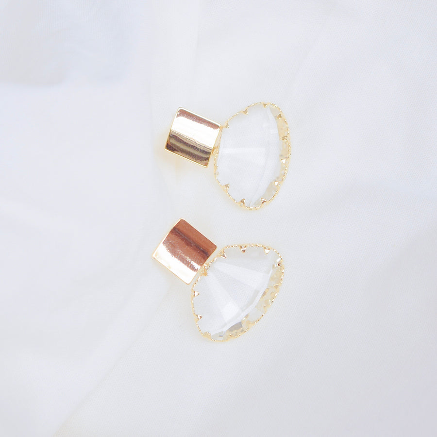 Made in Korea Earrings Korean Anting Glass Crystal Bride Bridal Dinner Titanium Accessory Fashion Fancy Stylish Jewellery Online Malaysia Shopping Trendy Accessories Daily Wear Jewelry Dainty Minimalist Delicate Clip On Earrings No Piercing Special Perfect Gift From Heart For Your Loved One