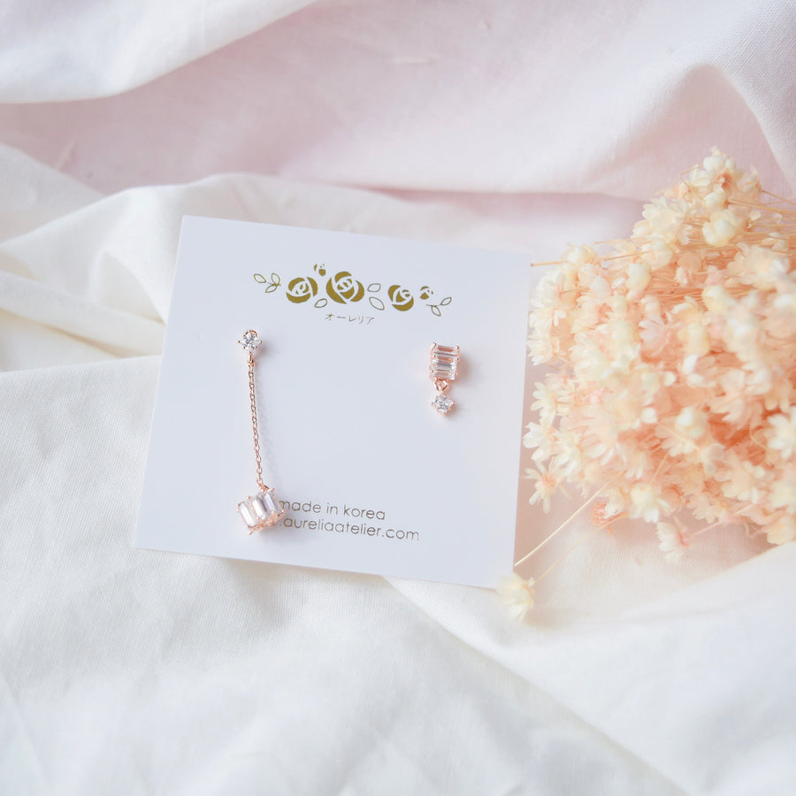 Rose Gold Dainty Delicate Korea Made Earrings 925 Silver