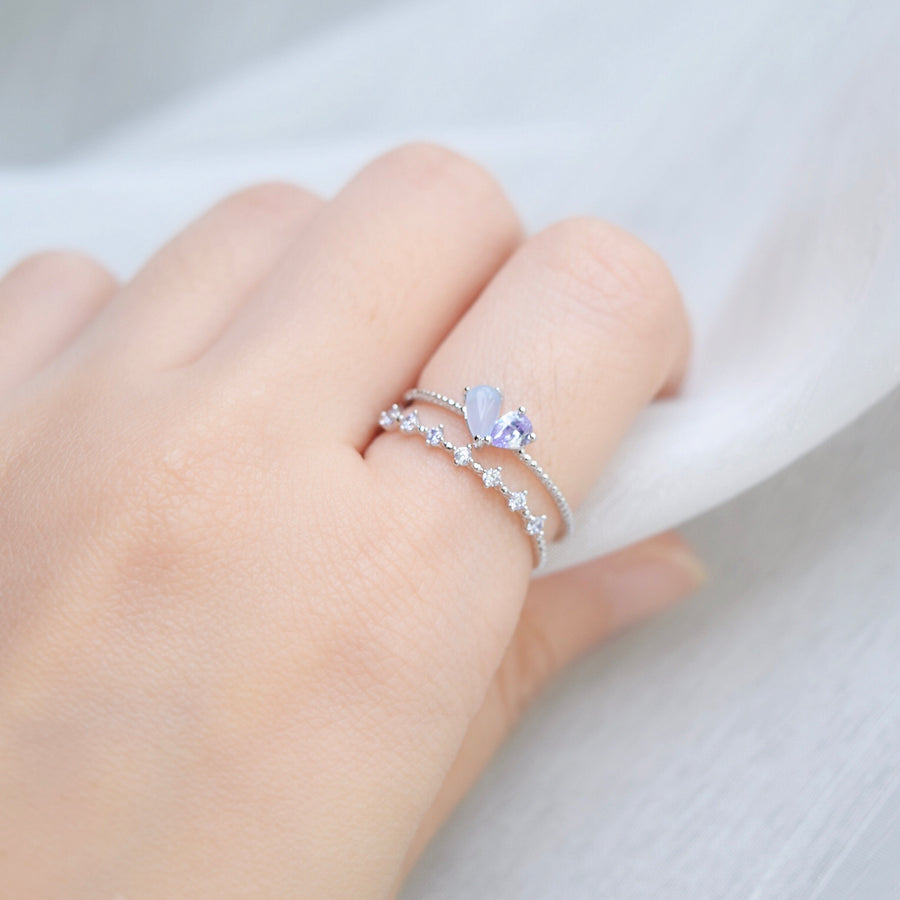 Silver Ring Korea Made Earrings Cubic Zirconia Stone 925 Silver Daily Wear Cincin Adjustable Surprise Gift For Your Loved One
