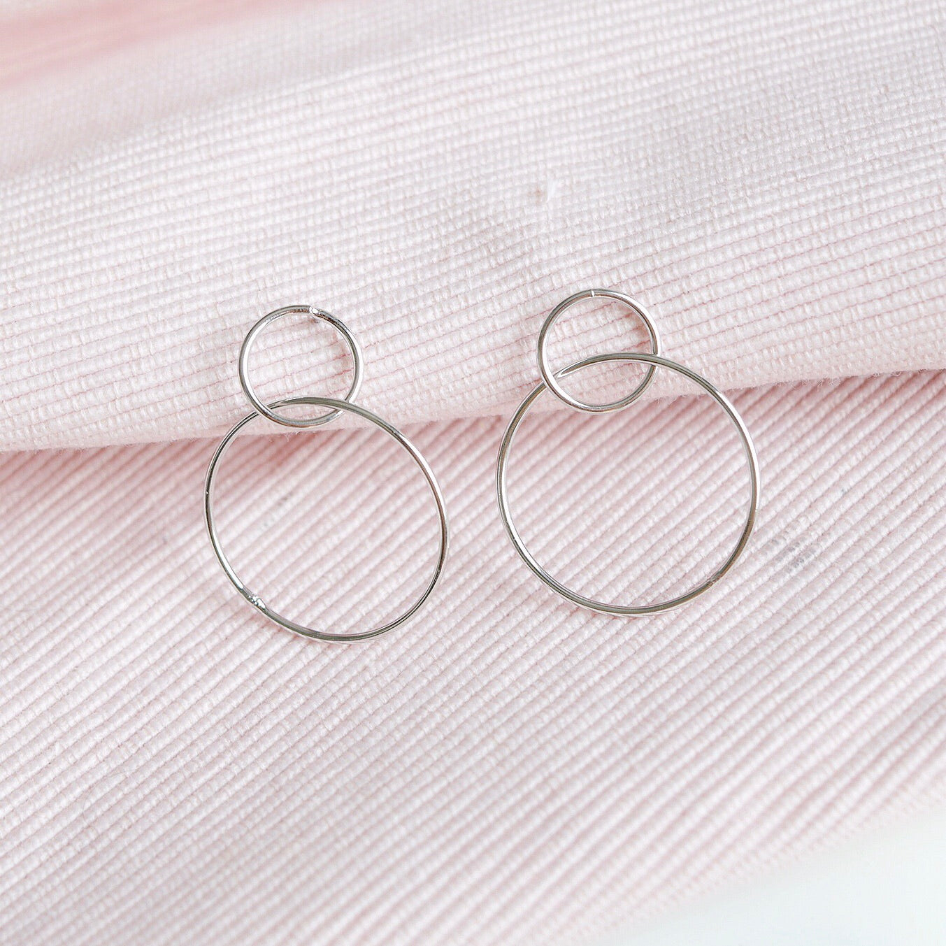 Silver Infinity Drop Earrings