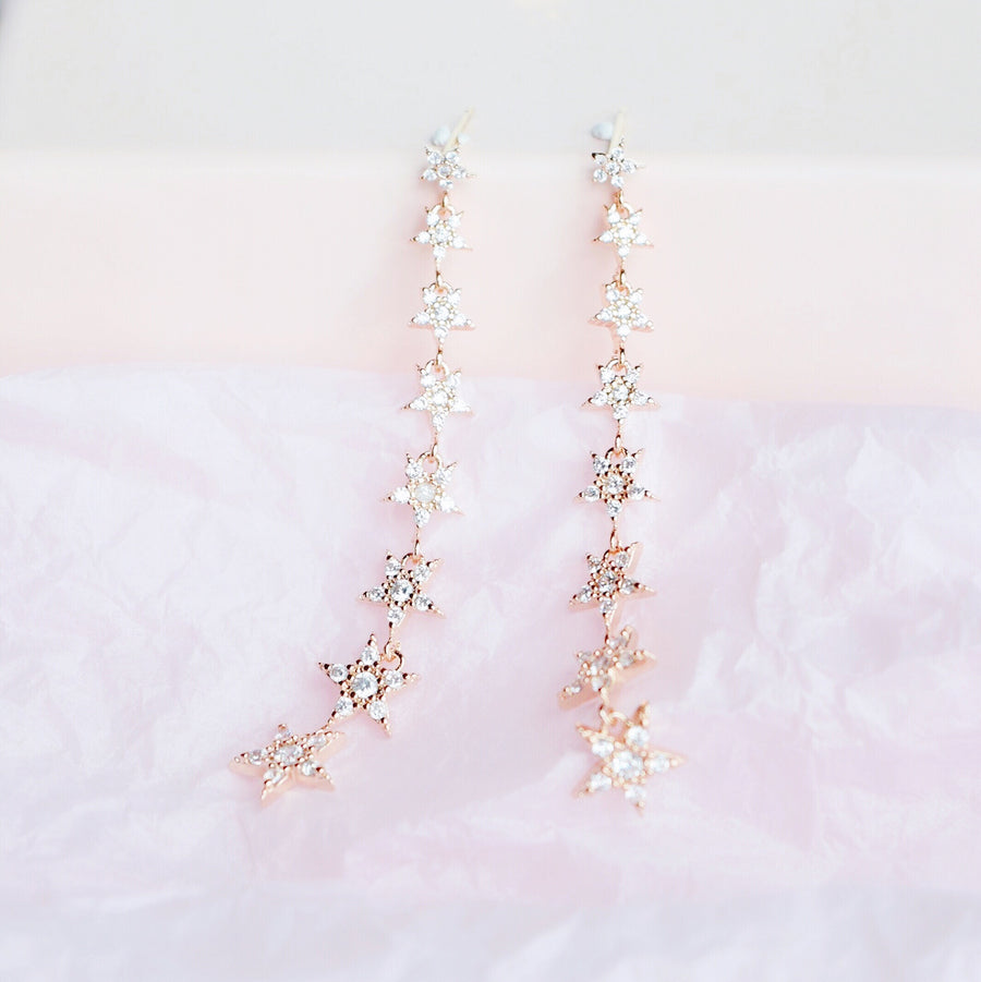 Rose Gold Starry Night Earrings