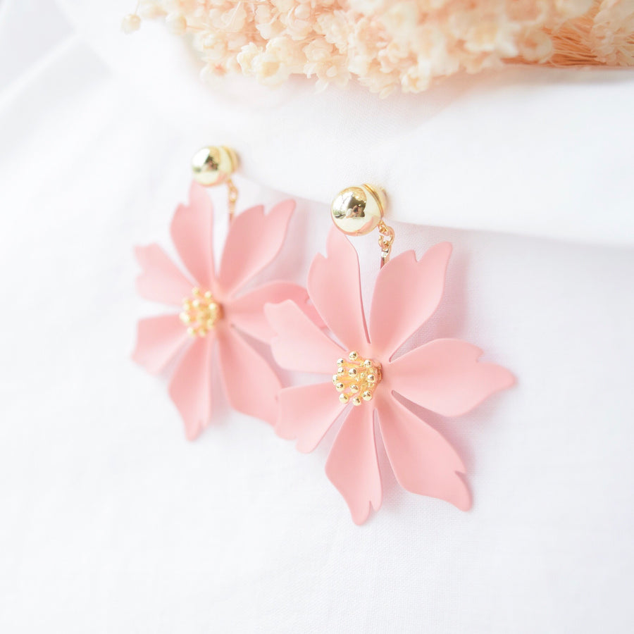 Pink Magnolia Earrings