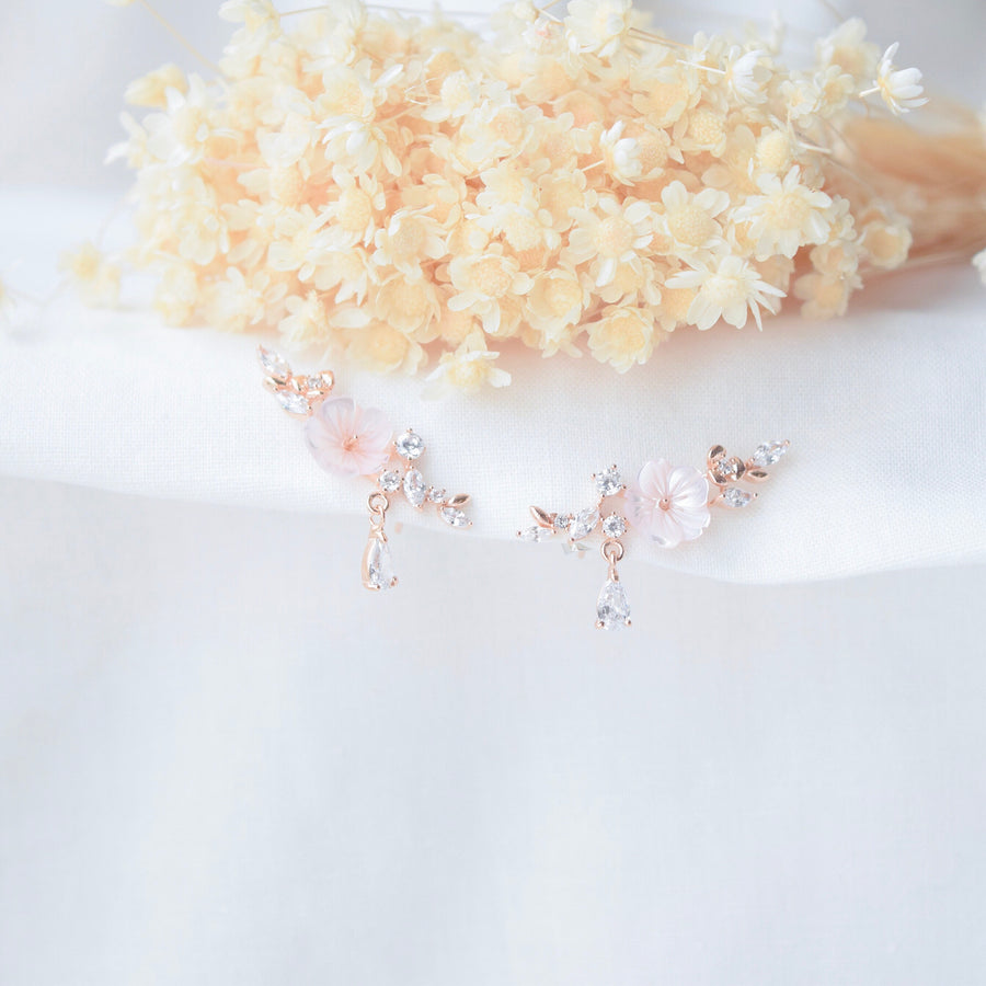 Made in Korea Earrings Korean Anting Cubic Zirconia Bride Bridal Dinner 925 Sterling Silver Accessory Fashion Fancy Stylish Costume Jewellery Online Malaysia Shopping Trendy Accessories Daily Wear Jewelry Dainty Minimalist Delicate Clip On Earrings No Piercing Special Perfect Gift From Heart For Your Loved One Sakura さくら
