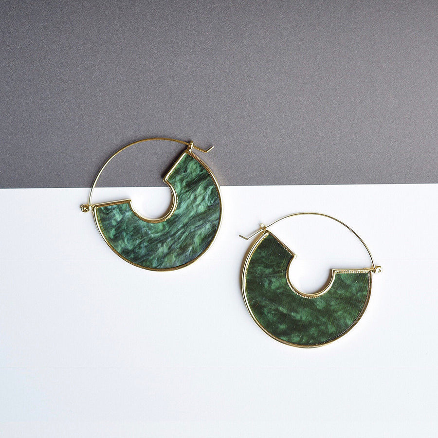 Green Unknown Earrings