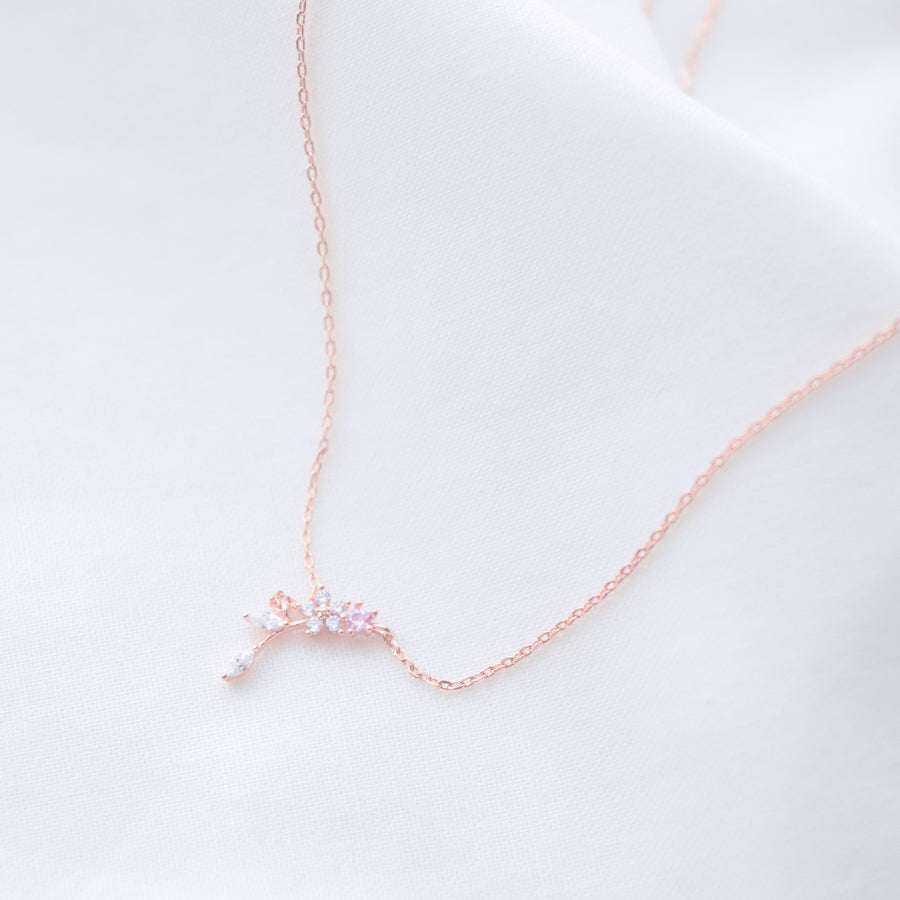 Made in Korea Necklace Korean Rantai Leher Cubic Zirconia Bride Bridal Dinner 925 Sterling Silver Rhodium Plated Accessory Fashion Fancy Stylish Jewellery Online Malaysia Shopping Trendy Accessories Daily Wear Jewelry Dainty Minimalist Delicate Special Perfect Gift From Heart For Your Loved One