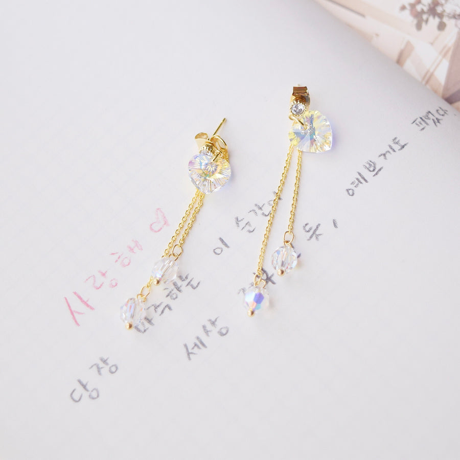 Made in Korea Earrings Korean Anting Swarovski Bride Bridal Dinner 925 Sterling Silver Accessory Gold Ruby Pearl Jewellery Jewelry Dainty Minimalist Delicate Clip On Earrings No Piercing