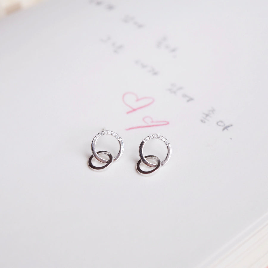Silver Love in Time Earrings