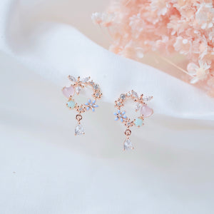 Opalescent Nymphaea Earrings