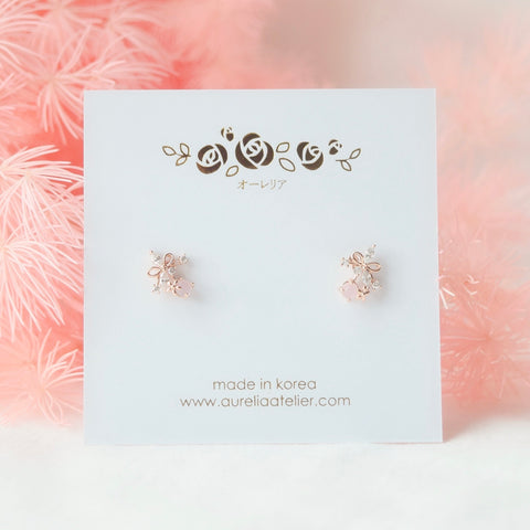 Accessory Gift for her Rose Gold Korea Made Earrings Korean Jewellery Jewelry Local Brand in Malaysia Cubic Zirconia Dainty Delicate Minimalist Jewellery Jewelry Bridal Bride Clip On Earrings 925 Sterling Silver Anting Dinner Silver Christmas Gift Set Xmas Silver snowman wreath candy cane present gift for her gift ideas
