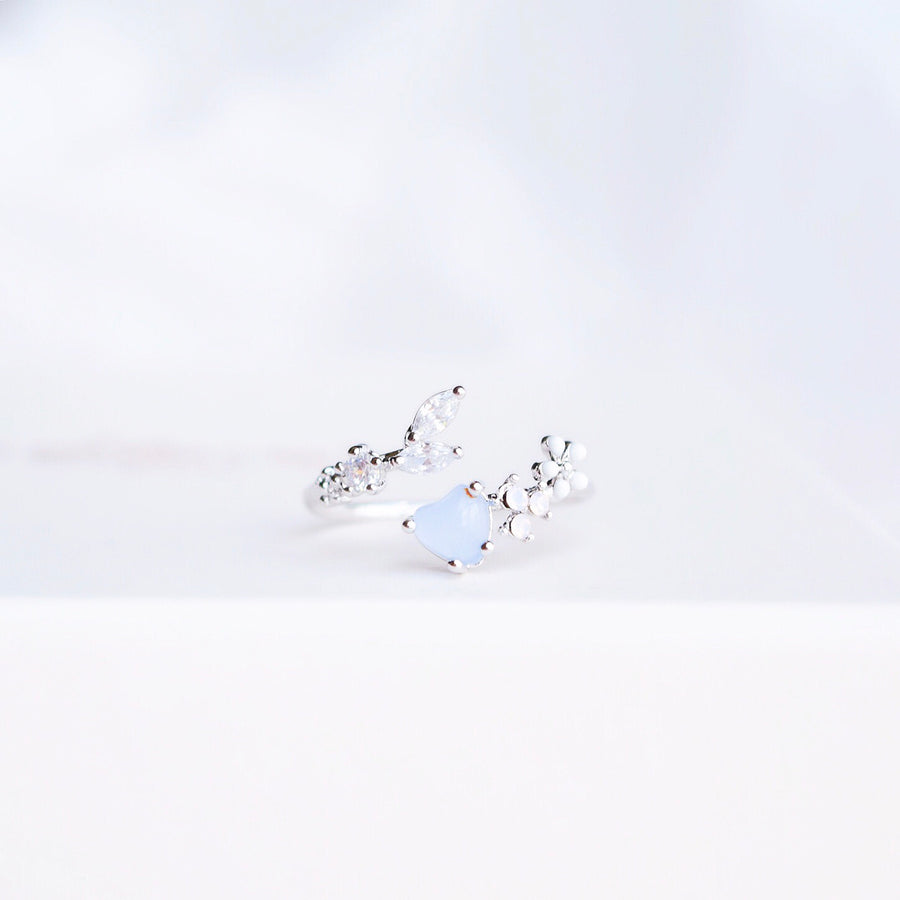 Silver Ring Korea Made Earrings Cubic Zirconia Stone 925 Silver Daily Wear Cincin Adjustable Perfect Surprise Gift For Her On Special Day