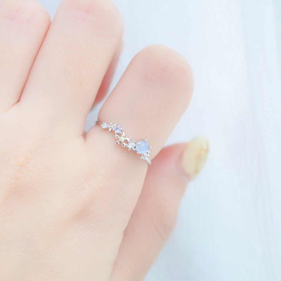 Silver Made in Korea Ring Cubic Zirconia Stone 925 Sterling Silver Bride Bridal Accessory Fashion Fancy Stylish Costume Jewellery Online Malaysia Shopping Trendy Accessories Daily Wear Jewelry Wear Cincin Adjustable Special Perfect Gift From Heart For Your Loved One