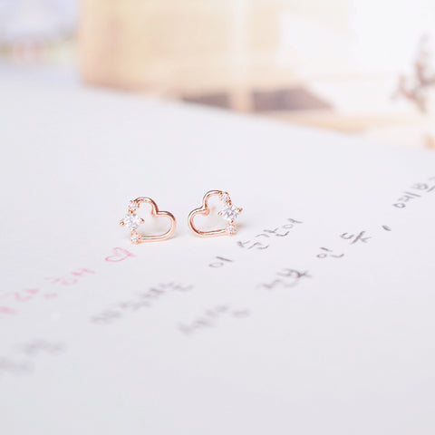 Rose Gold Lovey Dovey Earrings
