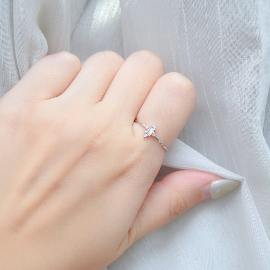 Silver Made in Korea Ring Cubic Zirconia Stone 925 Sterling Silver Rhodium Plated Bride Bridal Dinner Accessory Fashion Fancy Stylish Jewellery Online Malaysia Shopping Trendy Accessories Daily Wear Jewelry Dainty Minimalist Delicate Wear Cincin Adjustable Special Perfect Gift From Heart For Your Loved One