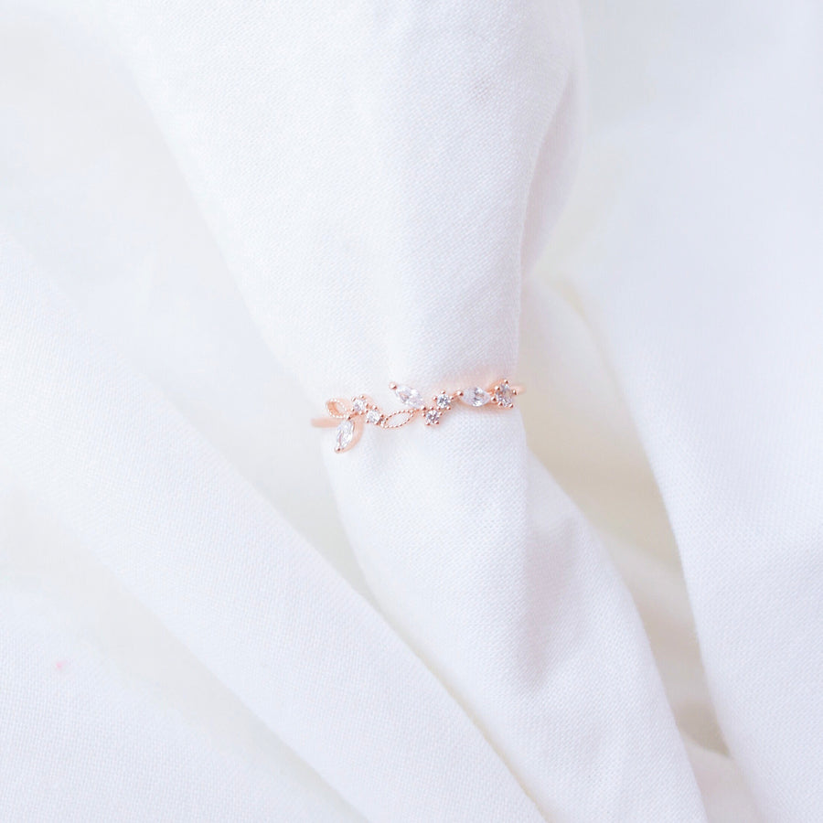 Rose Gold Made in Korea Ring Cubic Zirconia Stone 925 Sterling Silver Rhodium Plated Bride Bridal Dinner Accessory Fashion Fancy Stylish Jewellery Online Malaysia Shopping Trendy Accessories Daily Wear Jewelry Dainty Minimalist Delicate Wear Cincin Special Perfect Gift From Heart For Your Loved One