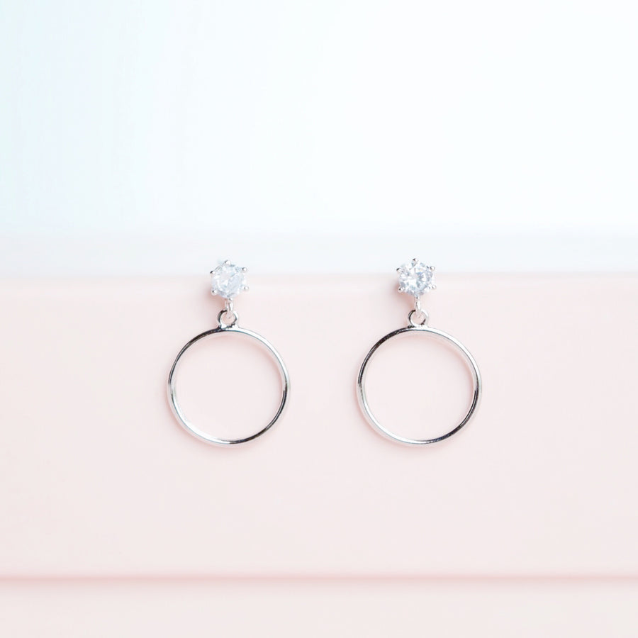 Silver Out of Love Earrings