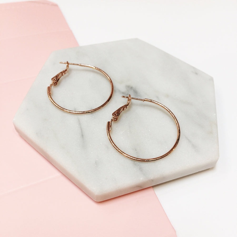 Rose Gold 30mm Hoop Earrings