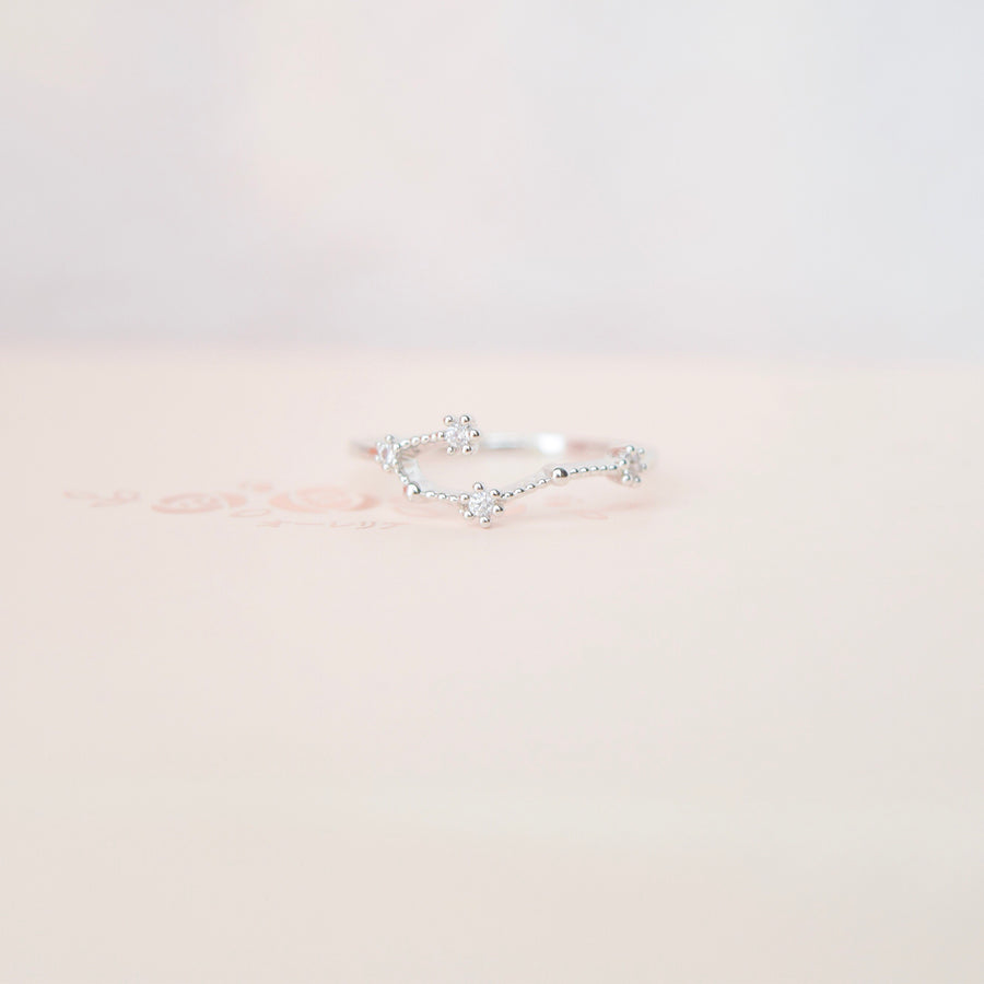 Stackable Rings Constellation ring Zodiac Constellation ring dainty ring zodiac ring Constellation jewelry Silver Ring Korea Made Earrings Cubic Zirconia Stone 925 Silver Daily Wear Fashion Cincin Jewellery Stylish Adjustable Unique Gift
