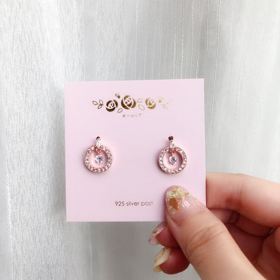 Rose Gold Remembrance Earrings