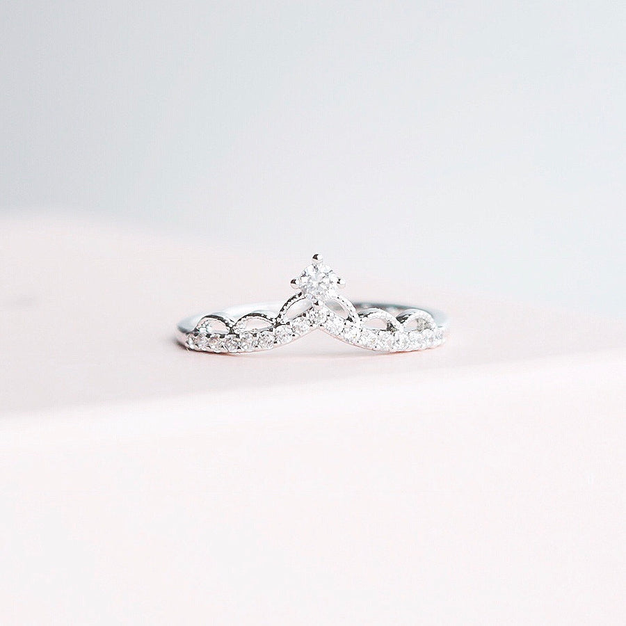 Silver Ring Korea Made Earrings Cubic Zirconia Stone 925 Silver Daily Wear Fashion Cincin Adjustable Romantic Gift With Meaning For Her