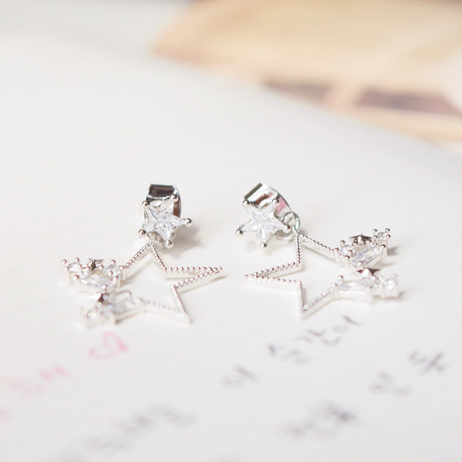 Silver Dainty Korea Made Earrings Local Brand in Malaysia