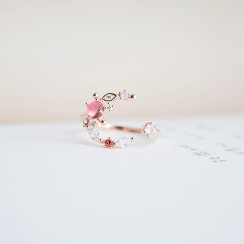 Rose Gold Ring Korea Made Earrings Cubic Zirconia Stone 925 Silver Daily Wear Cincin Adjustable Jewellery Online Gifts For Your Best Friend