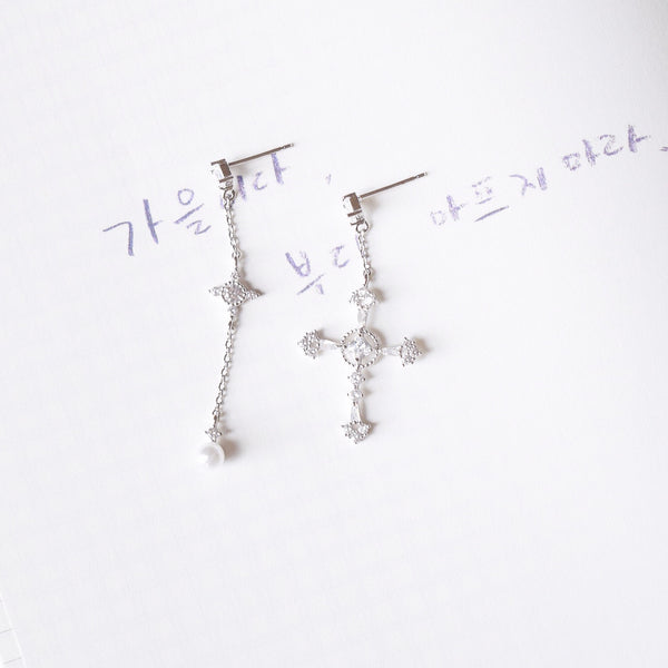 Silver Holy Light Earrings