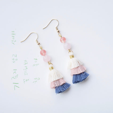 Wei Ying Luo Tassel Earrings
