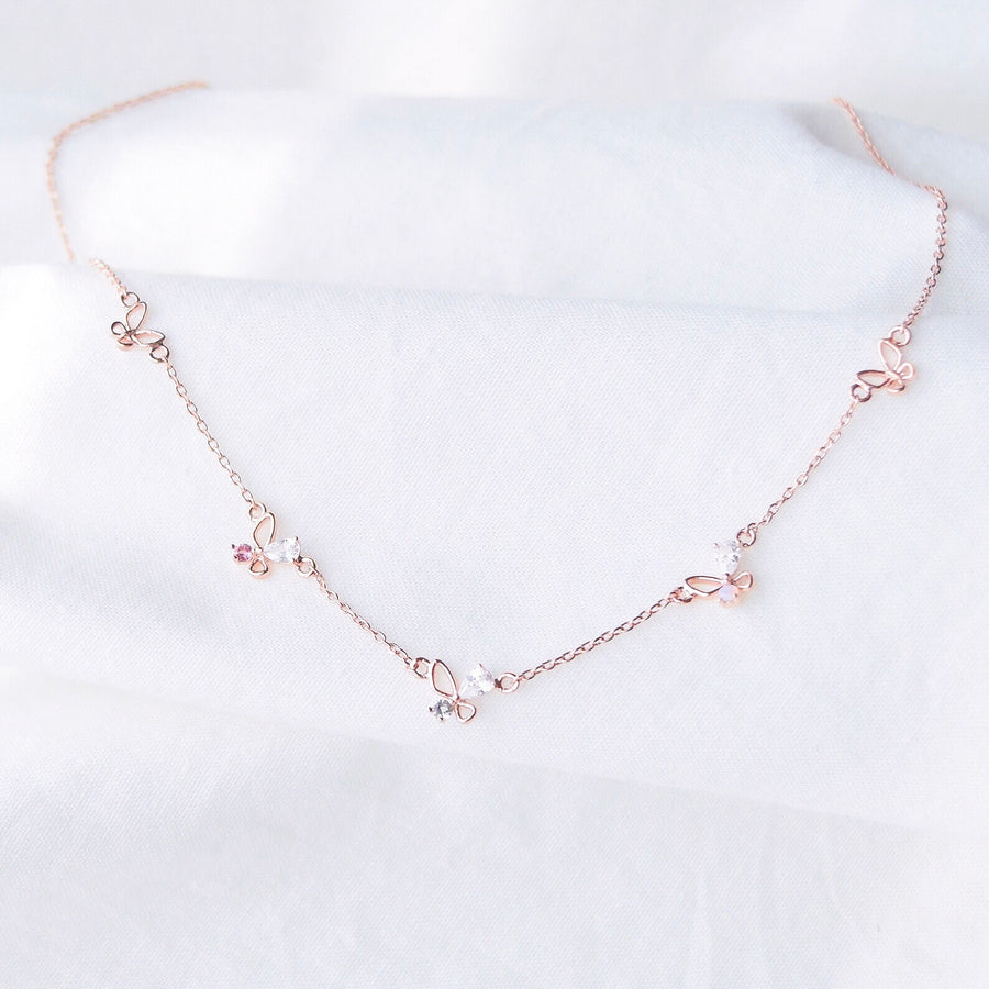 Made in Korea Necklace Korean Rantai Leher Cubic Zirconia Bride Bridal Dinner Rhodium Plated Accessory Fashion Fancy Stylish Jewellery Online Malaysia Shopping Trendy Accessories Daily Wear Jewelry Dainty Minimalist Delicate Special Perfect Gift From Heart For Your Loved One