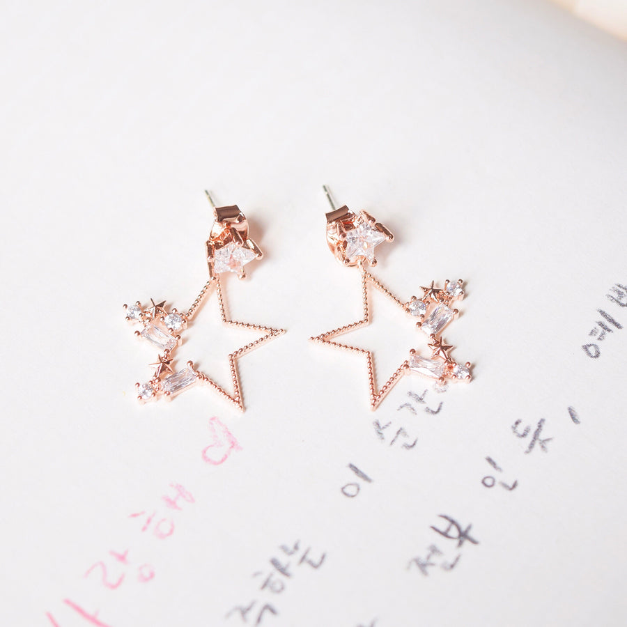 Rose Gold Korea Made Earrings925 Silver